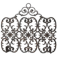 Florentine Three-Panel Arch Iron Fireplace Screen | WoodlandDirect.com: Fireplace Screens