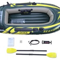 Intex Seahawk 2 Fishing Boat - Two Person Inflatable Lake Raft