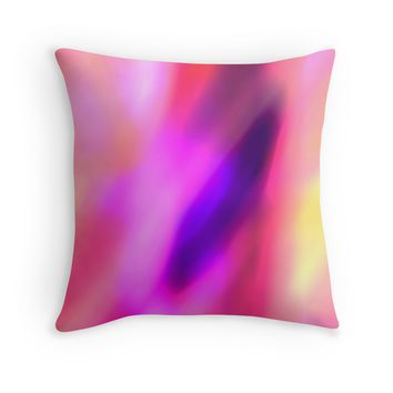 Fuchsia Pink Purple and Violet Abstract Glow Throw Pillow by Christina Katson- Modern Throw pillows,home decor dorm-living room bedroom