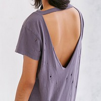 Truly Madly Deeply Super-Distressed Tee Dress - Urban Outfitters