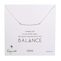 Dogeared Balance Large Square Bar Necklace