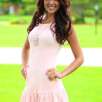 Uptown Girl Dress in Blush