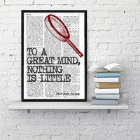Wall art smart Quote Print, Sherlock holmes fan,  Wall Decor, College Dorm Sherlock Poster print - Bedroom  wall art - Geek Poster print
