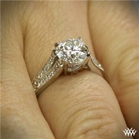 "18K White Gold ""Divisi"" Diamond Engagement Ring"