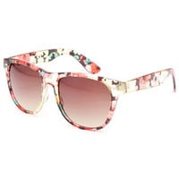 Full Tilt Floral Classic Sunglasses Multi One Size For Women 23766095701