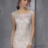 Sticks & Stones by Mori Lee 9284 Sparkling Jeweled Lace Dress