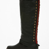 Bamboo Knee High Rider Black Boots @ Cicihot Boots Catalog:women's winter boots,leather thigh high boots,black platform knee high boots,over the knee boots,Go Go boots,cowgirl boots,gladiator boots,womens dress boots,skirt boots.