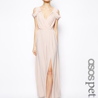 ASOS Petite | ASOS PETITE Wrap Front Maxi Dress at ASOS