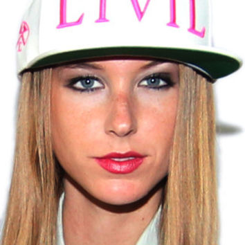Civil Trap Snapback Hat in White/Pink | Sweetrebelboutique.com | Sweet Rebel