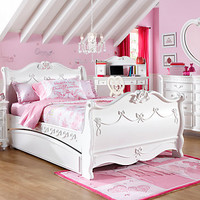 Disney Princess White 5 Pc Twin Sleigh Bedroom