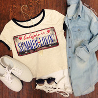 California Summer Crop Top