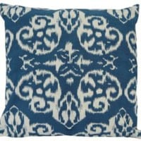One Kings Lane - Worldly Goods - 18x18 Reversible Pillow, Blue