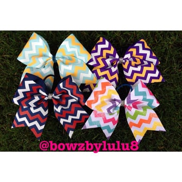 "Chevron 3"" Cheer Bows"