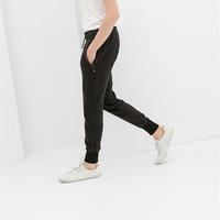 TROUSERS WITH STRETCH WAISTBAND AND CUFFED HEMS