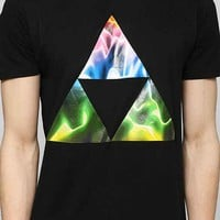 Neon Triangles Waves Tee - Urban Outfitters