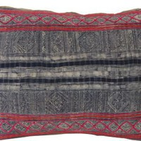 Hmong Tribal Fabric Pillow, Blue & Pink - One Kings Lane - Vintage & Market Finds - Textiles