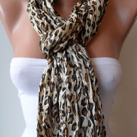 Leopard Print Scarf Satin Fabric by SwedishShop on Etsy