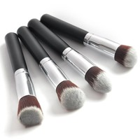 Bis Sale!!!Professional 4 pcs Black Synthetic Kabuki Flat Foundation Brush Single Makeup Cosmetic Brush