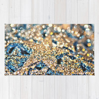 Starry Wishes and Bokeh Dreams... Area & Throw Rug by Lisa Argyropoulos | Society6