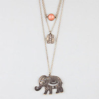 Full Tilt Disc/Stone/Elephant Necklace Gold One Size For Women 24276762101