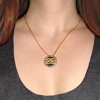 Mini Neverending Story Auryn Pendant And Gold Chain Necklace | Luulla