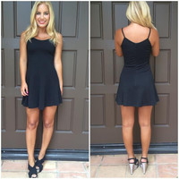 High Tide Skater Dress - Black