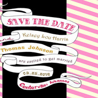 Rockin' Banner save the date printable by nraevsky on Etsy