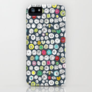 buttons and bees slate iPhone & iPod Case by Sharon Turner | Society6