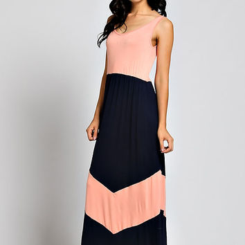 Peach Stripe Maxi