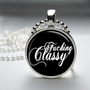 Round Glass Bezel Pendant Fucking Classy Mature by IncrediblyHip