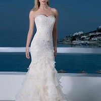 Buy Stunning Organza Mermaid Sweetheart Neckline Wedding Dress