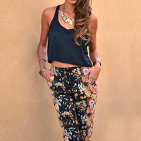 Tropical loral Printed Trousers