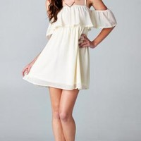 Cream Off the Shoulder Dress