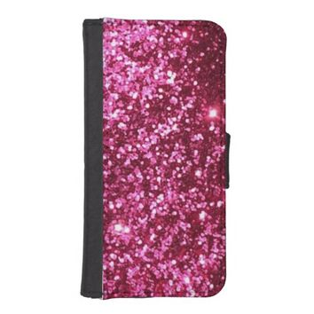 Trendy Hot Pink Glitter iPhone 5/5S Wallet Case