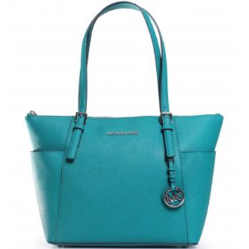Michael Kors Jet Set East West Tote in Aqua