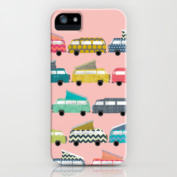 geo campers pink iPhone & iPod Case by Sharon Turner | Society6