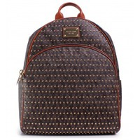 Michael Kors Jet Set Large Studded Backpack in Brown