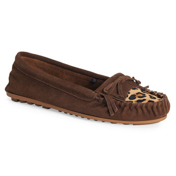Leopard Faux Leather Moccasin
