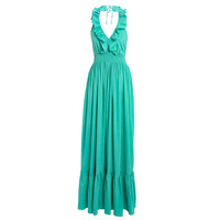 Mint Halter Neck Sun Maxi Dress