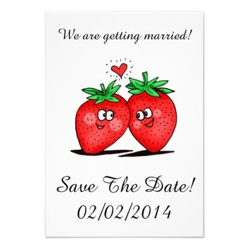 Strawberries Love - Save The Date