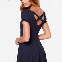 LULUS Exclusive Pretty Little Ditty Navy Blue Dress