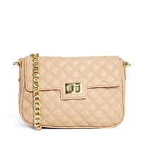 ASOS Quilted Cross Body Bag With Tab and Lock