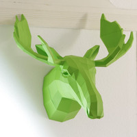 Fake Trophy Moose / Elk, Wall trophy Moose, Sweden fan, Papercraft Template