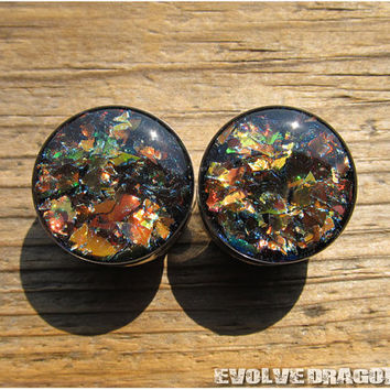 Ember City Shard Plugs - 00g, 7/16, 1/2, 9/16, 5/8, 3/4, 7/8, 1 Inch