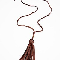 Hekoya Leather x FP Womens Leather Tassel Pendant -