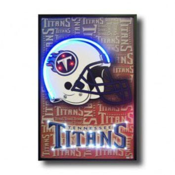 Neonetics Tennessee Titans Neon Poster Sign - Tennessee Titans Lighted Poster - All Wall Art - Wall Art & Coverings - Decor