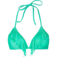 KANDY WRAPPERS Fringed Benefits Bikini Top 201789524 | swim | Tillys.com