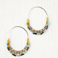 Kris Nations Canyon Beaded Hoops at Free People Clothing Boutique