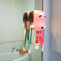 The puppy toothpaste squeezer device creative the tooth brush holder - Toothbrush Holders