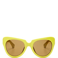+ Dries Van Noten Cat-Eye Acetate Sunglasses by Linda Farrow - Moda Operandi